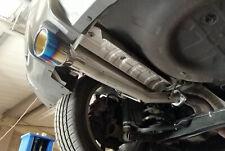 """Rear silencer delete pipe for Nissan Juke Nismo RS 2wd - 4"""" slash blue burnt tip"""