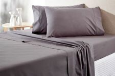 Sheridan Everyday Cotton 250TC KING Bed sheet Set in Charcoal RRP $259.95