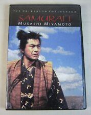 Criterion Collection SAMURAI Musashi Miyamoto DVD