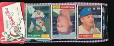 1961 Topps 12-Card Christmas Rack Pack w/ 6 Cards Showing!!