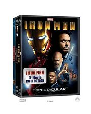 IRON MAN TRILOGY 1 2 3 MOVIE COLLECTION 3 DISC BOXSET DVD R1 ROBERT DOWNEY JR