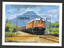 LIBERIA MNH 1994 MS547 TRAINS MINISHEET