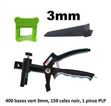 Kit 3 mm croisillon auto nivelant professionnel 400/150/pince PerfectLevel PLP.
