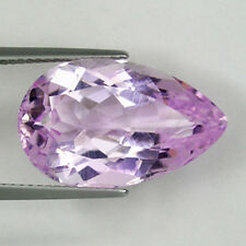 14.99 ct   DAZZLING - TOP  SPARKLING  100% NATURAL KUNZITE -  Pear -  2884
