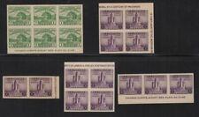 1933 APS Expo Sc 730 & 731 imperf souvenir sheet blocks & pairs