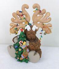 Mark Klaus Rudney The Rounder Reindeer Christmas Figurine Tree Lights