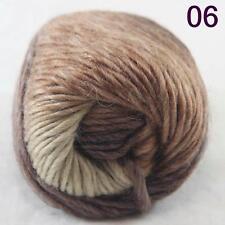 SALE NEW Chunky Colorful Hand Knitting Scores Wool Yarn Dark Brown Sand Beige
