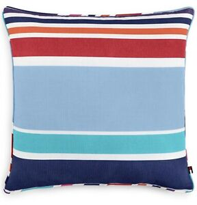Tommy Hilfiger Dunmore Stripe Blue/Red Multi Stripe 20x20 Decorative Pillow