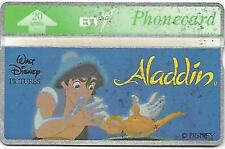 Phonecard BT - ALADDIN (Blue Background) - 20 Units - Excellent Condition