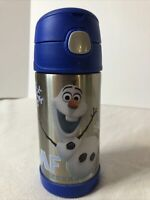 Thermos Insulated Kids Funtainer Bottle 12 Hr. Hot/Cold 12oz Handle Olaf Frozen