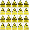 Static Cling vinyl 20 miniture CCTV IN OPERATION signs non adhesive black decal