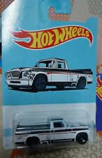 2019 HOT WHEELS AMERICAN PICKUP TRUCK SERIES #10/10 '63 STUDEBAKER CHAMP WHITE