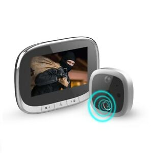Video Doorbell Camera with 4.3-in LCD Screen Motion Detection IR Night Vision