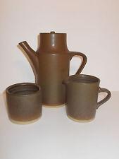 Pottery Stoneware Coffee Pot Milk Jug Creamer and Sugar Bowl Lovely