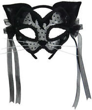 Sexy Cat Mask & Ears Ladies Masquerade Ball Fancy Dress Animal Carnival Costume