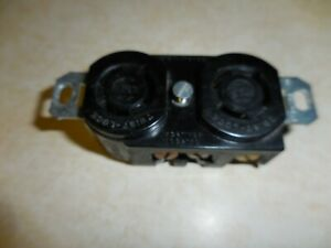 Hubbell Twist Lock Duplex Grd. Receptacle 10A.250V / 15A 125V. used /ships  FREE