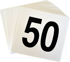 Wedding Event Party Table Number Plastic Place Cards 1-50 Double sided