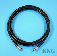 Custom Satellite Cable Coaxial Coax Lead F Plug + Extension 2m/3m/4m/5m/6m/7m/8m