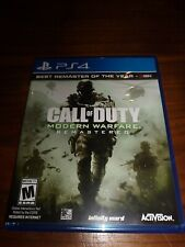 Call Of Duty: Modern Warfare Remastered For PlayStation 4 PS4 COD Shooter 2E