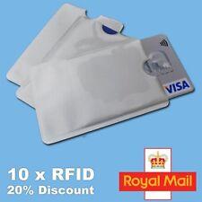 10x RFID Blocking Sleeve Credit Card Protector Bank Card Holder for Wallets UK