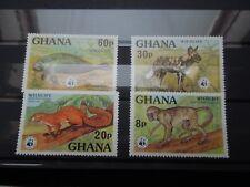S31  GHANA  1977  WWF  FAUNA  MI 702-705  MNH
