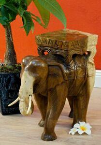 Side Table Elephant Podium Stool Flowers Table Furniture Solid Wood Suar Acacia