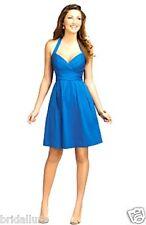 PURELY ALFRED ANGELO 7109 CAPRI BLUE NEW 8 SUNDRESS BRIDESMAID PARTY GRAD DRESS
