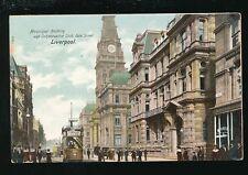 Lancashire Lancs LIVERPOOL Dale St Tram #420 Municipal Building c1900/10s? PPC