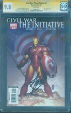 Civil War 1 The Initiative CGC 9.8 SS Stan Lee Captain America Iron Man