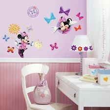 New Disney MINNIE MOUSE BOW-TIQUE 33 Wall Decals Girls BedRoom Decor Stickers