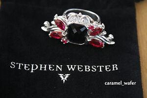 Stephen Webster Pop Superstud Grey Cat's Eye Sterling Silver BUTTERFLY Ring 8