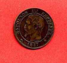 (BR.65) 2 CENTIMES NAPOLÉON III 1857 K (BORDEAUX) TTB+ RARE