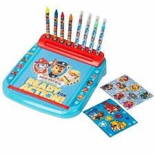 Paw Patrol Nickelodien Deluxe Roll and Go Art Colouring Desk Station Toy
