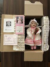 "Vintage Ashton Drake ""Sarah"" Porcelain Doll by artist Yolanda Bello with Coa"