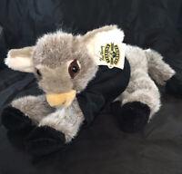 "Baby Donkey Stuffed Plush Animal Toy Gray 10"" Fred Harvey Trading Grand Canyon"