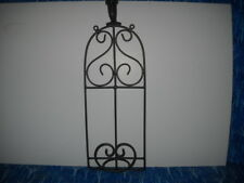 Plate Rack, Wall Mount Display Holder, Wrought Iron Style, Black