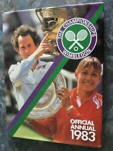 THE CHAMPIONSHIPS WIMBLEDON TENNIS ANNUAL 1983 Rare 1st Edition