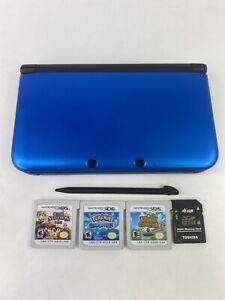 Nintendo 3DS XL Blue Bundle w Pokémon Alpha Sapphire