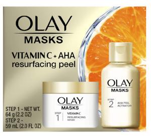 Olay Masks AHA Resurfacing Peel - 2 Step Kit - New & Boxed