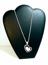 W/ Lobster Claw & Extender A Silver Colored Double Heart Necklace