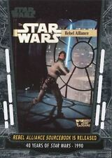 Star Wars 40th Anniversary Base Card #74 Rebel Alliance Sourcebook is Released