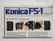 Konica FS-1 instructions, original printed sheet