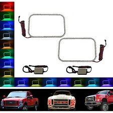 08-10 Ford F-250 Multi-Color Changing LED RGB Halo Lower Headlight Rings Pair