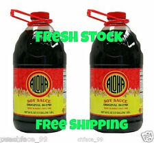 (2) Aloha Soy Sauce Shoyu Original Blend 1/2 Gallon 64 oz Hawaii FREE SHIPPING