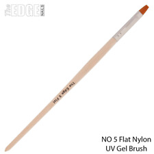 The Edge Nails NO 5 Flat Nylon UV Gel Brush - UV Gel Nail Nail Systems Nail Art