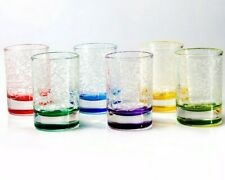 Set of 6 Shot Glasses 50 ml ea Vodka Tequila Clear Colored Glasses