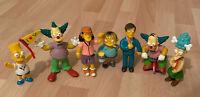 7 X The Simpsons Krusty the Clown, Bart, Ralph, Figures Bundle Of Seven