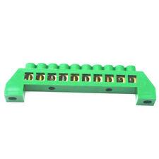 1Pcs 10 Hole Green Screw Brass terminal block Earth And Neutral block