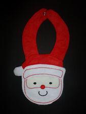 NEW Carter's Santa Christmas Red Holiday Terry Cloth Teething Unisex Baby Bib