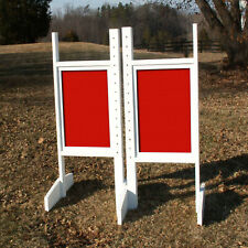 Horse Jumps Solid Colored Panel Wing Standards Pair/5ft -Colors- Horse Tack #208